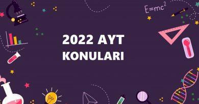 2022 AYT Konuları Ve Soru Dağılımı (YKS Konuları)