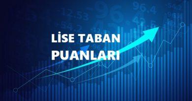 Zonguldak 2022 Lise Taban Puanları ve Yüzdelik Dilimleri